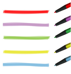 Creative of color highlight vector