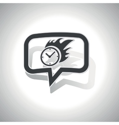 Curved burning time message icon vector