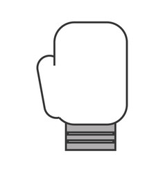 Cute boxin glove cartoon vector