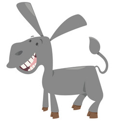 Cute donkey farm animal vector