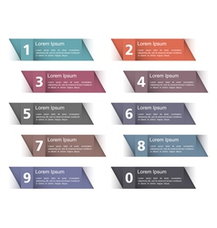 Design Elements with Numbers vector image