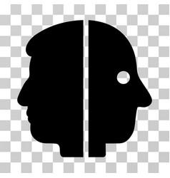 dual face icon vector image