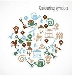 Gardening symbols vector image vector image