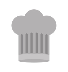 Gray scale silhouette of chefs hat large vector
