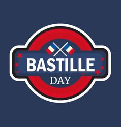 Happy bastille day vector