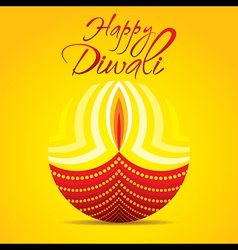 Happy diwali festival greeting or poster design vector