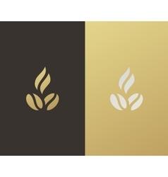 Hot coffee logo design vector