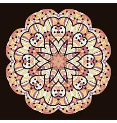 Kaleidoscopic unusual mandala of brown color vector image