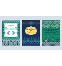 Knitted Sweater Greeting card vector image vector image