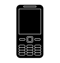mobile phone call technology pictogram vector image vector image