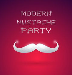Modern Mustache Party vector image
