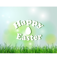 Nature background with grass for easter vector