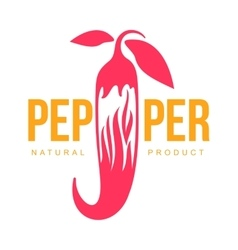Pink and orange of chili pepper logo vector