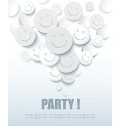 Positive Banner with Smiles vector image