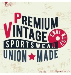 Premium vintage stamp vector image vector image