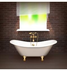 Realistic bathroom poster vector
