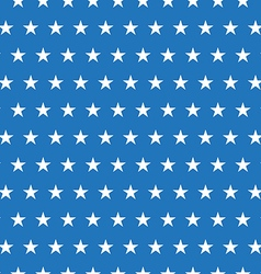 Seamless pattern of white stars on blue background vector image vector image