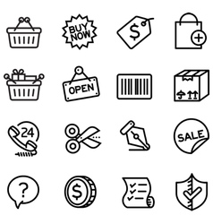Shopping icons - vector image vector image