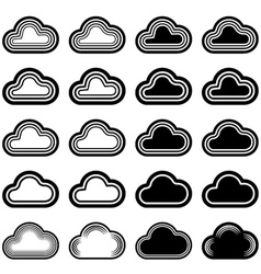 sky cloud black symbols vector image