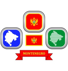 symbol of Montenegro vector image vector image