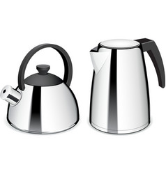 Teapot and electric kettle vector image