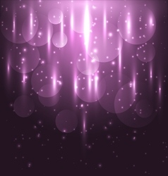 Abstract pink light and bokeh glowing background vector image