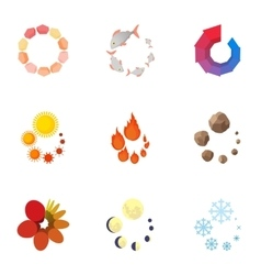 Sign download icons set cartoon style vector