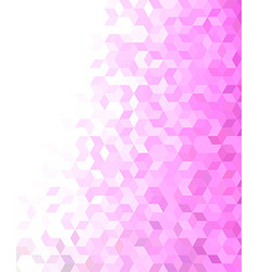 3d cube mosaic pattern background vector