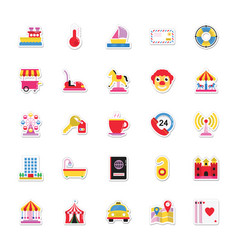 Summer and holidays icons 20 vector