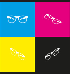 Sunglasses sign   white icon vector