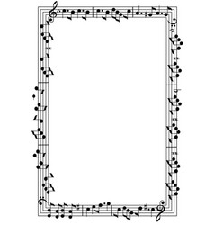 musical theme frame vector image