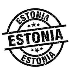 Estonia black round grunge stamp vector