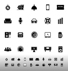 Home theater icons on white background vector
