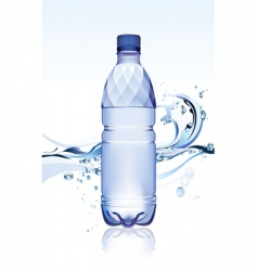 water bottle vector image
