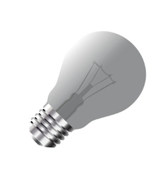 Realistic light bulb isolated on white vector