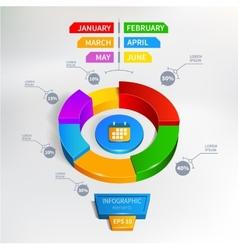 Infographics circle graph vector