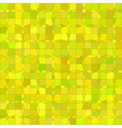 Yellow geometric circle background vector