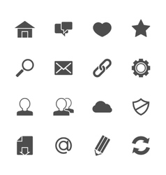 Web icons gray vector