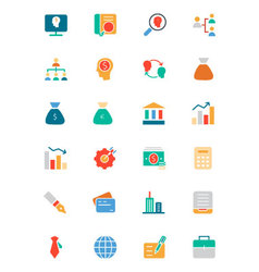 Banking and finance colored icons 1 vector
