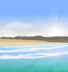 Beautiful summer landscape vector