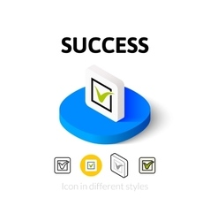 Success icon in different style vector