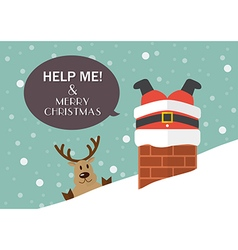 Help me and merry christmas vector