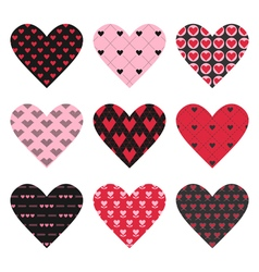 Set of valentines day hearts vector