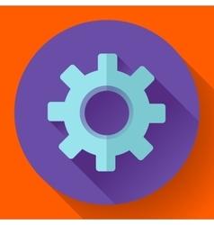 Cogwheel icon develop symbol flat design style vector