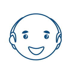 Adult male bald head vector