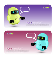Banner with chat bot vector