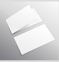 Bifold horizontal empty brochure mockup design vector