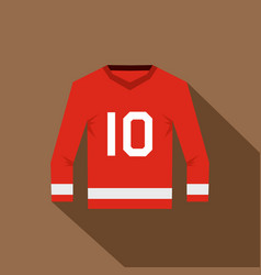 Canadian hockey jersey icon flat style vector