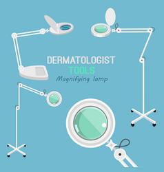 Dermatologist equipment set vector