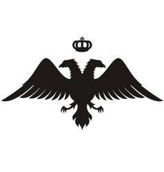 double headed eagle silhouette vector image vector image